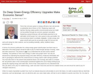Update to 'Do Deep Green Energy Retrofits Make Economic Sense' Article